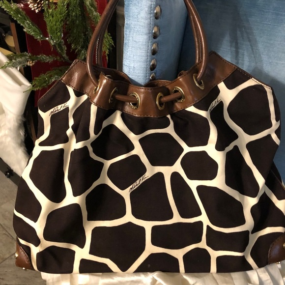 Michael Kors Giraffe Print Canvas Bag
